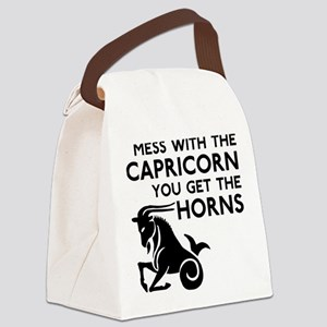 Capricorn Horns Canvas Lunch Bag