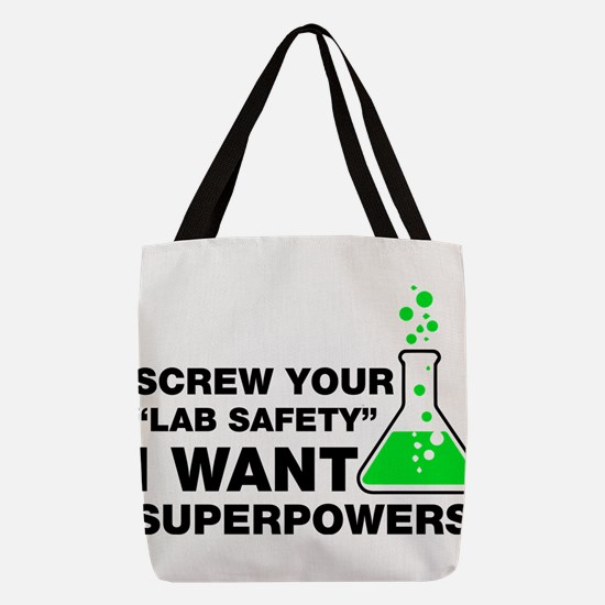 Chemist Superpowers Humor Polyester Tote Bag