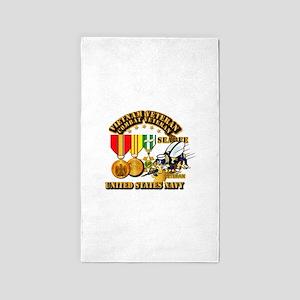 Navy - Seabee - Vietnam Vet - w Medals - Area Rug