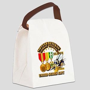 Navy - Seabee - Vietnam Vet - w M Canvas Lunch Bag