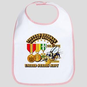 Navy - Seabee - Vietnam Vet - w Medals - Seabe Bib