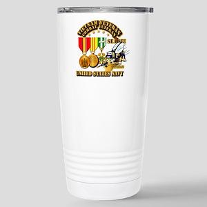 Navy - Seabee - Vietnam Stainless Steel Travel Mug