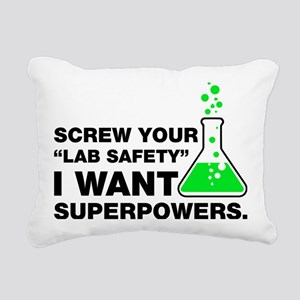 Chemist Superpowers Humo Rectangular Canvas Pillow