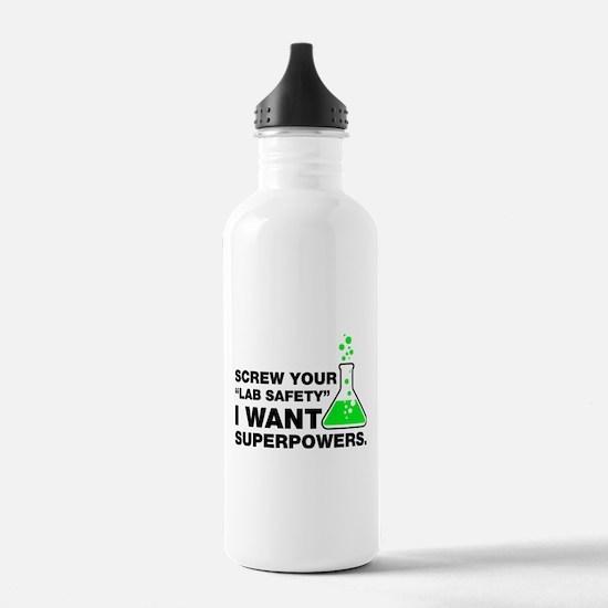 Chemist Superpowers Hu Water Bottle