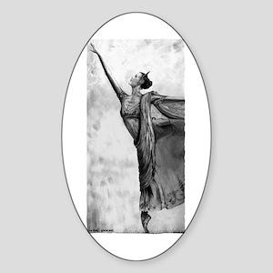 Ballerina Dancer Sticker (Oval 10 pk)