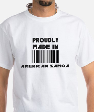 proudly made In American Samo White T-Shirt