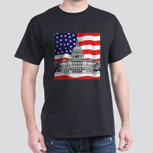 US Capitol Building American Dark T-Shirt