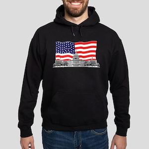 US Capitol Building American Hoodie (dark)