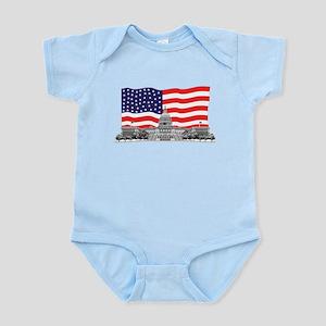 US Capitol Building American Infant Bodysuit