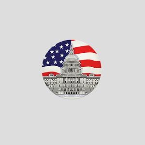 US Capitol Building American Mini Button
