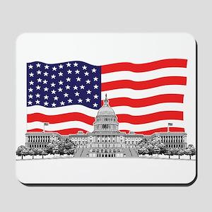 US Capitol Building American Mousepad