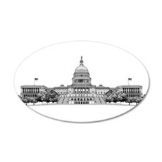 US Capitol Building 22x14 Oval Wall Peel