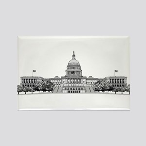 US Capitol Building Rectangle Magnet