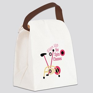 Spin Classes Canvas Lunch Bag