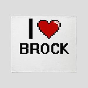 I Love Brock Throw Blanket