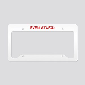 stupid questions License Plate Holder
