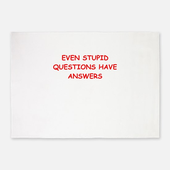 stupid questions 5'x7'Area Rug