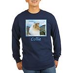 Collie (Rough) Long Sleeve Dark T-Shirt