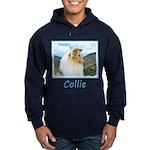 Collie (Rough) Hoodie (dark)