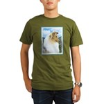 Collie (Rough) Organic Men's T-Shirt (dark)