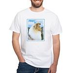 Collie (Rough) White T-Shirt