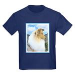 Collie (Rough) Kids Dark T-Shirt