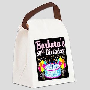 FANTASTIC 80TH Canvas Lunch Bag