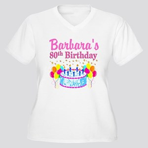 80 AND FABULOUS Women's Plus Size V-Neck T-Shirt