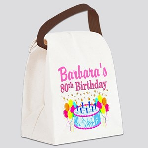 80 AND FABULOUS Canvas Lunch Bag