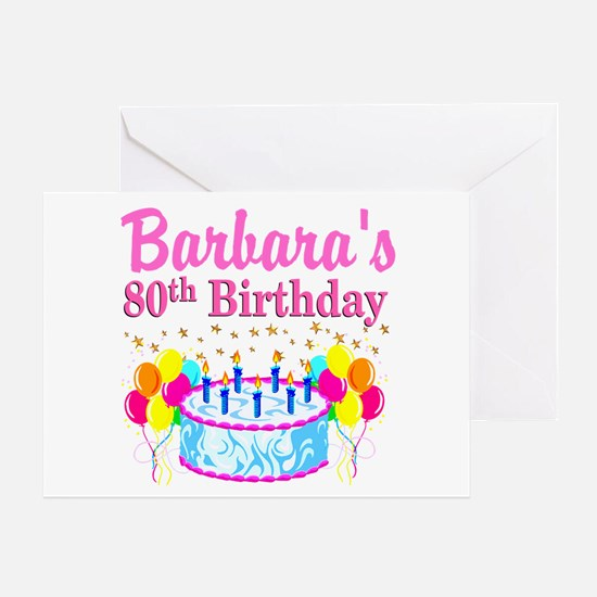 80 AND FABULOUS Greeting Card