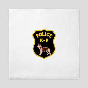 K9 Police Officers Queen Duvet