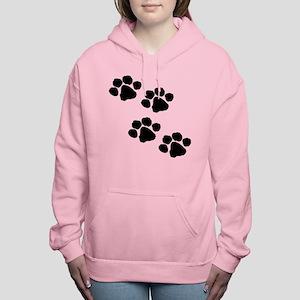 Animal Paw Prints Women's Hooded Sweatshirt