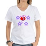Girly Design Women's V-Neck T-Shirt