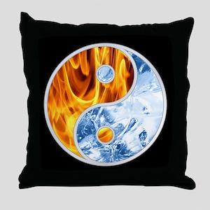 YIN-YANG FIRE ICE Throw Pillow