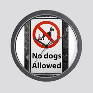 no-dogs-allowed-sign Wall Clock