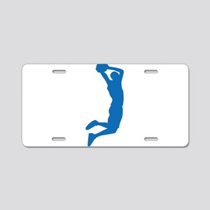 Slam Dunk Blue Aluminum License Plate
