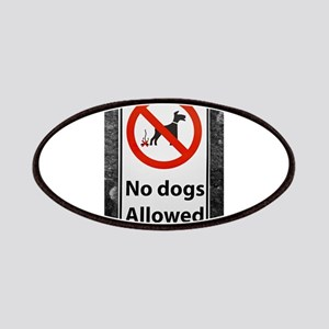 no-dogs-allowed-sign Patch
