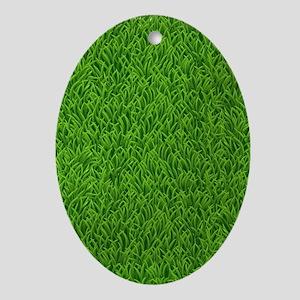 Grass Oval Ornament