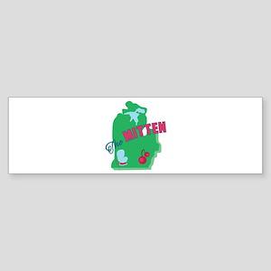 Mitten Bumper Sticker