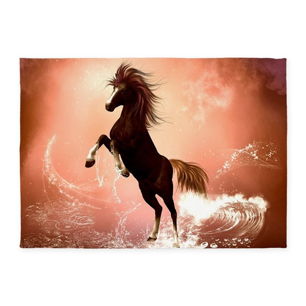Awesome Horse 5'x7'Area Rug By Fantasyworld7