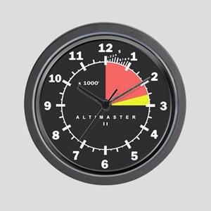 Altimaster Altimeter Timekeeper Black Wall Clock