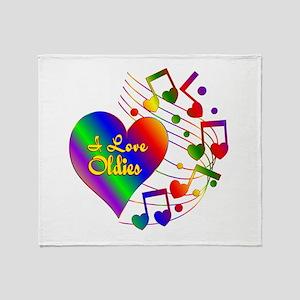 I Love Oldies Throw Blanket