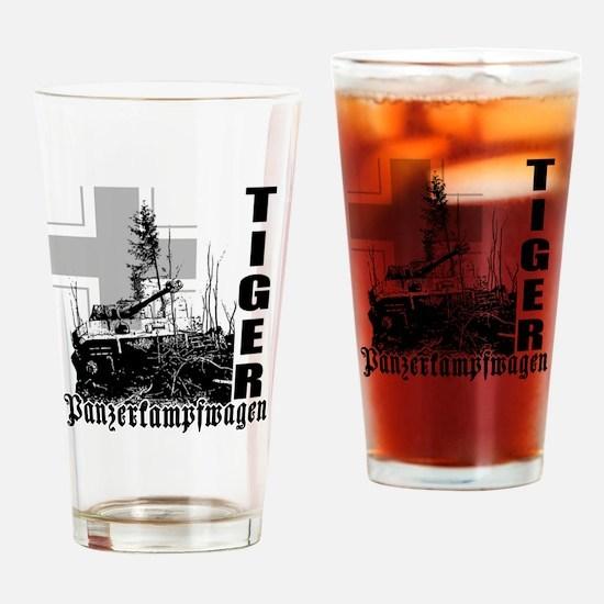 tiger tank Drinking Glass