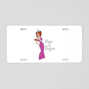 Grace & Gorgeous Aluminum License Plate