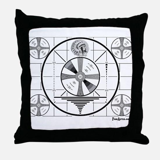 TV Test Pattern Throw Pillow