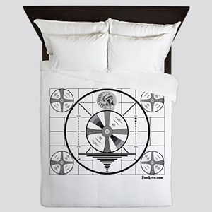 TV Test Pattern Queen Duvet