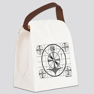 TV Test Pattern Canvas Lunch Bag
