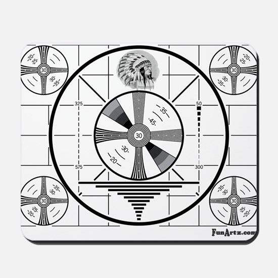 TV Test Pattern Mousepad