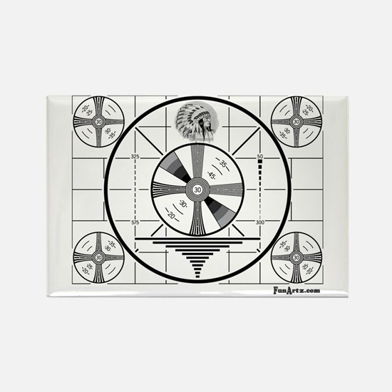 TV Test Pattern Rectangle Magnet