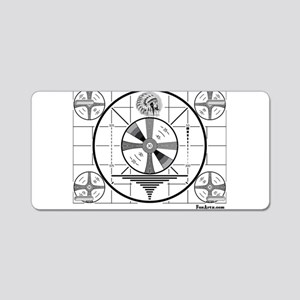 TV Test Pattern Aluminum License Plate